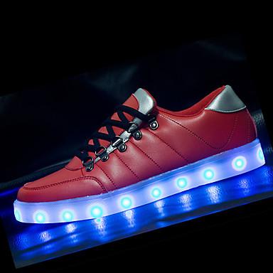 Herren-Sneaker-Lässig-PU-Flacher Absatz-Komfort-Blau Rot