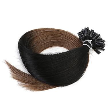 neitsi 20 '' 50グラム/ロット1グラム/ sのオンブルuが融合人間の髪の毛の拡張子を傾ける前接合ネイル100%レミーT1-6#