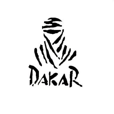 Funny  DAKAR Car Sticker Car Window Wall Decal Car Styling (1pcs)