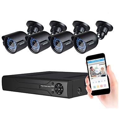 jooan® Sicherheitssystem 4 x 720p wetterfeste tvi Kamera und 1080n 8ch dvr Recorder Unterstützung ahd / tvi / cvi / cvbs