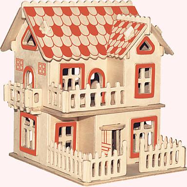 Puzzles de Madera Edificio Famoso Arquitectura China Casa Nivel profesional De madera 1pcs Estilo europeo Niños Chico Regalo
