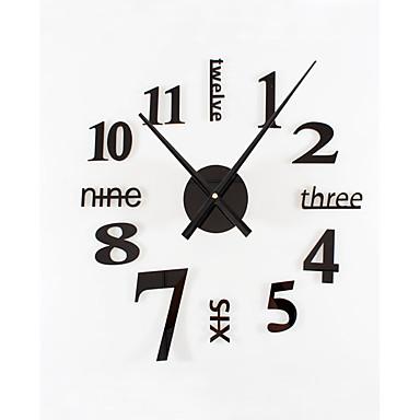 Wall Clock,Modern Contemporary Retro Acrylic Metal Round Indoor / Outdoor