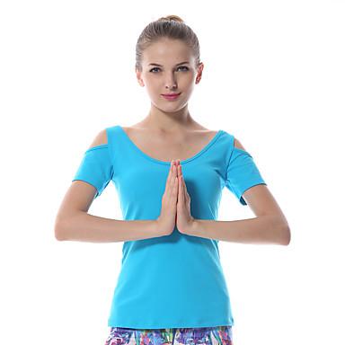 Yokaland Dame Scoop Neck Løse skuldre Yoga Top - Svart, Blå, Lilla sport Topper Yoga & Danse Sko, Pilates, Trening & Fitness Ermeløs