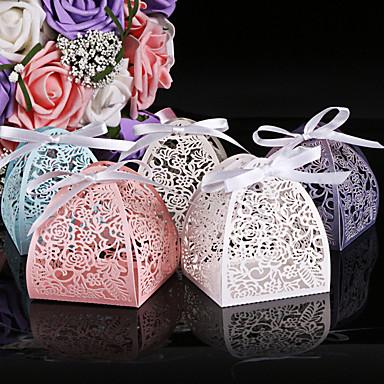 Redonda Quadrada Cilindro Papel Pérola Suportes para Lembrancinhas com Estampado Caixas de Ofertas