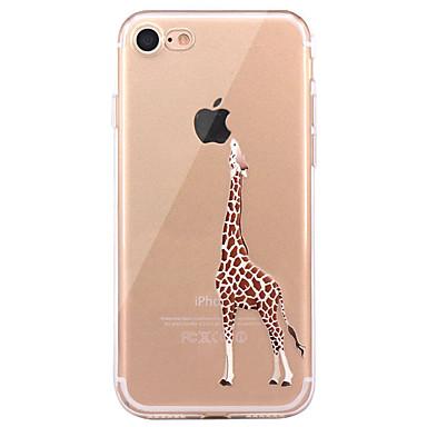 Käyttötarkoitus iPhone X iPhone 8 iPhone 8 Plus kotelot kuoret Ultraohut Kuvio Takakuori Etui Eläin Pehmeä TPU varten Apple iPhone X