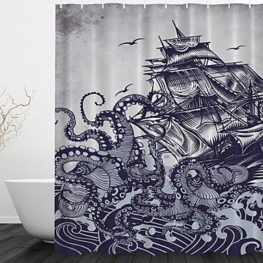 Duschvorhänge Neoklassisch Polyester Tier Maschinell gefertigt