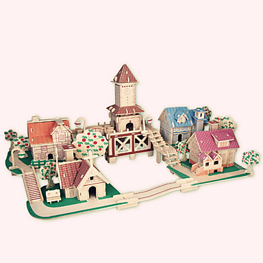 Puslespill i tre Kjent bygning / Kinesisk arkitektur / Hus profesjonelt nivå Tre 1pcs Romantikk Barne Gutt Gave