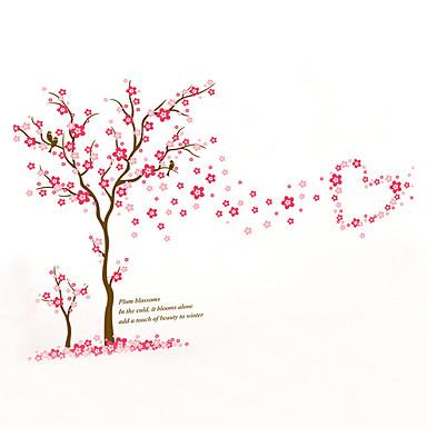 Mote Blomster Botanisk Veggklistremerker Fly vægklistermærker Dekorative Mur Klistermærker, Vinyl Hjem Dekor Veggoverføringsbilde Vegg