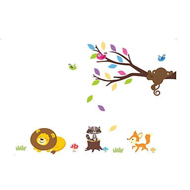 Animales De moda Botánico Pegatinas de pared Calcomanías de Aviones para Pared Calcomanías Decorativas de Pared, Vinilo Decoración