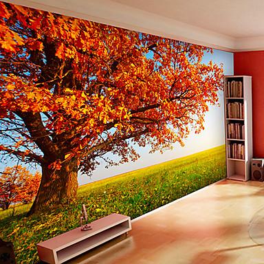 Blomstret Art Deco 3D Hjem Dekor Moderne Tapetsering, Lerret Materiale selvklebende nødvendig Veggmaleri, Tapet