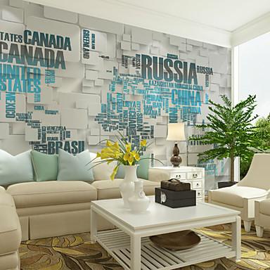 ورد الفني 3D تصميم ديكور المنزل معاصر تغليف الجدران, كنفا مادة لاصق المطلوبة جدارية, غرفة الكوفيرينج