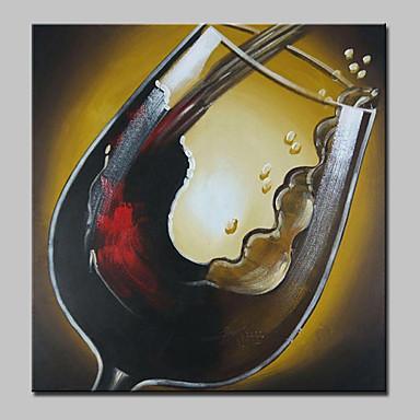 手描きの 抽象画 食べ物 油彩画,Modern 1枚 キャンバス ハング塗装油絵 For ホームデコレーション