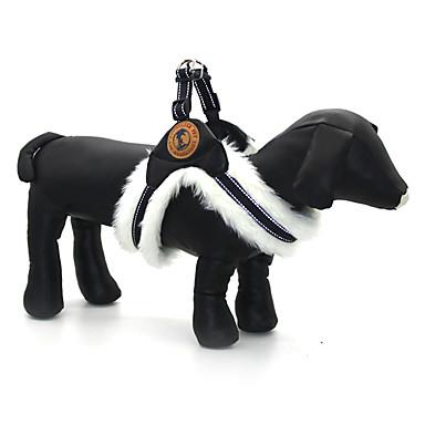 Hund Seler Justerbare / Uttrekkbar Reflekterende Ensfarget PU Leather Tøy Hvit Svart Kakifarget
