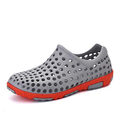 Herren Schuhe Kunststoff Frühling Sommer Herbst Loch Schuhe Mokassin Sandalen Wasser-Schuhe Für Normal Weiß Grau Braun Blau