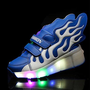 Jungen-Sneaker-Lässig-PU-Flacher Absatz-Komfort-Blau Grün Rot
