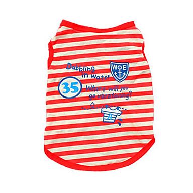 Hund Weste Hundekleidung Niedlich Lässig/Alltäglich Streifen Rot Blau Kostüm Für Haustiere