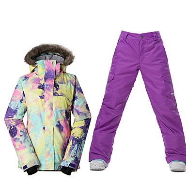 Skikleidung Ski/Snowboard Jacken Damen Winterkleidung Polyester Kleidung für den WinterWasserdicht warm halten Windundurchlässig Fleece