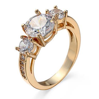 女性用 指輪 キュービックジルコニア ゴールド シルバー ジルコン キュービックジルコニア 合金 カジュアル コスチュームジュエリー