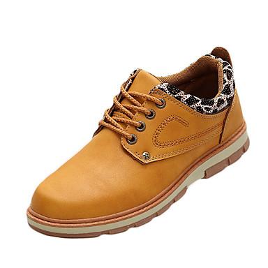 Herre sko PU Vår Høst Komfort Oxfords Svart Gul Lysebrun