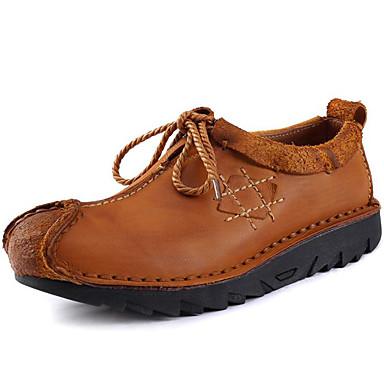 Homens Sapatos Pele Napa Primavera Verão Outono Inverno Conforto Oxfords Sem Salto para Casual Escritório e Carreira Festas & Noite