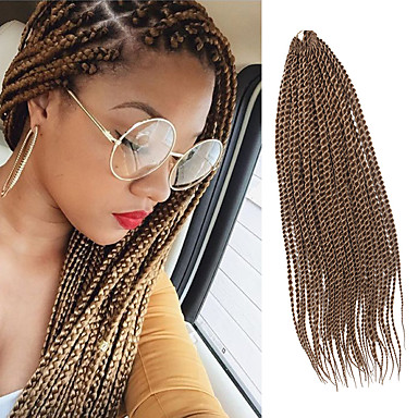 Trenza de la torcedura Trenzas de cabello Senegal Cabello 100 % Kanekalon Rubio fresa Cabello para trenzas Extensiones de cabello