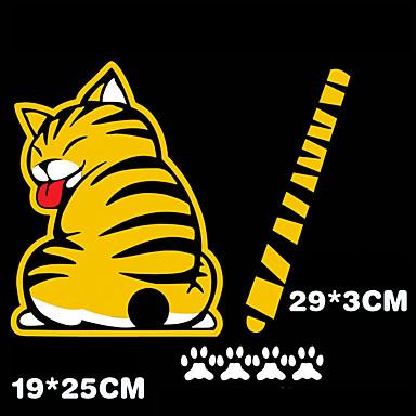 3d bil klistermærker sjove kat bevæger hale klistermærker reflekterende bil styling ...