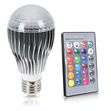 billige Elpærer-KWB 8 W LED-globepærer 850 lm E26 / E27 A70 1 LED perler COB Vanntett Sensor Infrarød sensor RGB 85-265 V / Mulighet for demping / 1 stk. / RoHs