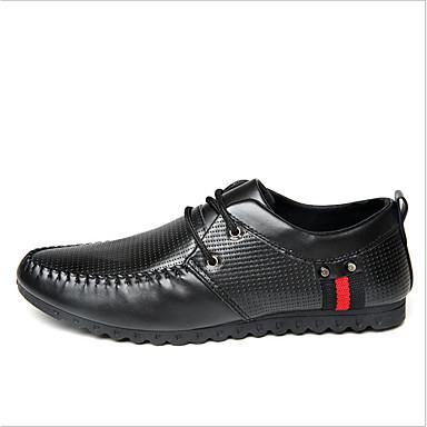 Miehet kengät Mokkanahka Kevät Kesä Syksy Comfort Mokkasiinit Oxford-kengät Käyttötarkoitus Kausaliteetti Valkoinen Musta Keltainen