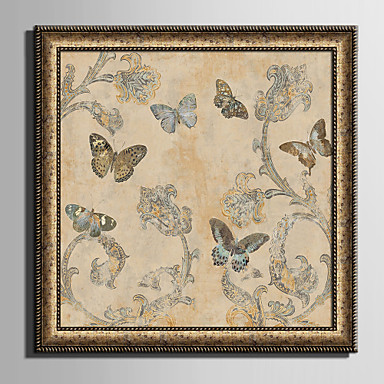 Framed Canvas Set Animals Floral Botanical Wall Art PVC Material With Frame Home