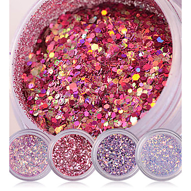 Shiny Nail Glitter Powder Red Pink Purple Nail Sequins Manicure Nail