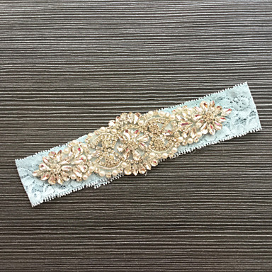 Renda Clássico Fashion Wedding Garter  -  Pedrarias Renda Ligas