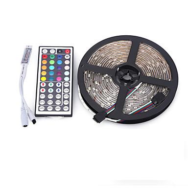 5m Conjuntos de Luzes 300 LEDs 5050 SMD RGB Controlo Remoto / Cortável / Regulável 12 V / IP65 / Impermeável / Conetável / Adequado Para Veículos / Auto-Adesivo