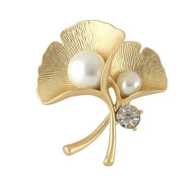 Kadın's Broşlar Bayan Moda Broş Mücevher Gümüş Altın Uyumluluk Günlük