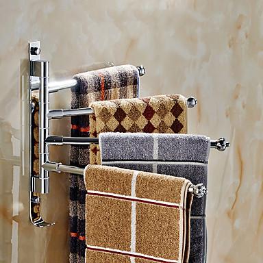 Barra para Toalha Modern Aço Inoxidável 1 Pça. - Banho do hotel Barra de 4 toalhas