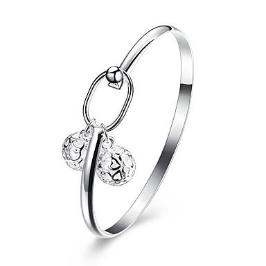 Mulheres Bracelete - Zircônia Cubica, Prata Chapeada Pulseiras Prateado Para Aniversário / Presente / Diário
