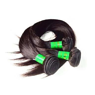 Kémiai anyagoktól mentes / nyers Szűz haj Remy haj Emberi haj 100% Remy hajszövési csomó Remy emberi haj tincs haj sző Fekete hölgyeknek