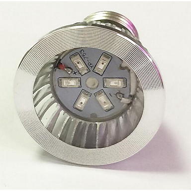 1pc 3.5W 100lm Voksende lyspære 6 LED perler SMD 5730 Blå Rød 85-265V