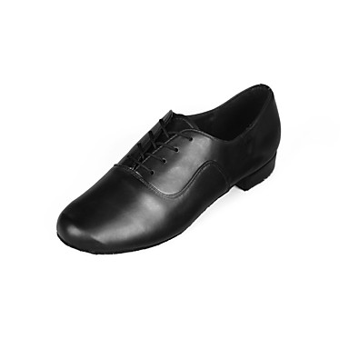 Homens Sapatos de Dança Latina Sintético / Courino Salto Salto Baixo Personalizável Sapatos de Dança Preto / Interior / Espetáculo
