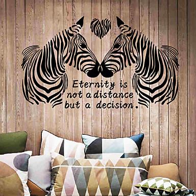 لواصق حائط مزخرفة - الكلمات ونقلت ملصقات الحائط حيوانات / أزياء / كلمات ومصطلحات غرفة الجلوس / غرفة النوم / غرفة الطعام