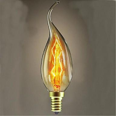 40w c35l 텅스텐 장식 램프 꼬리 양 초 유럽 스타일 촛불 (모듬 된 색상)