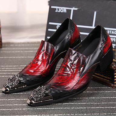 povoljno Muške oksfordice-Muškarci Cipele za noviteti Mekana koža Proljeće / Jesen Udobne cipele Oksfordice Crn / Vjenčanje / Zabava i večer