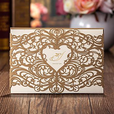 Hülle & Taschenformat Hochzeits-Einladungen Einladungskarten Klassicher Stil Kartonpapier