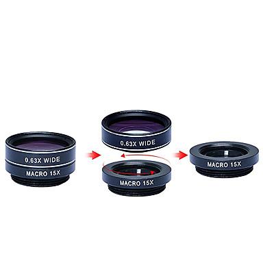 1 HDカメラレンズキットでapexel 5 198fisheye lens0.63x iphoneのための広いangle15xマクロlens2x望遠lenscplレンズ7 6/6秒6 / 6SプラスSEサムスンGA