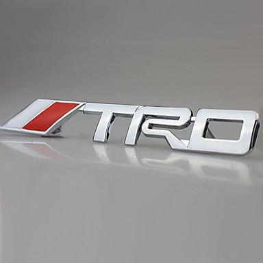 TRD Chrome Racing Emblem Car Trunk Badge 3D Metal Sticker Decal