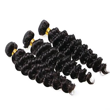 İnsan saç örgüleri Düz Brezilya Saçı Vücut Dalgası saç örgüleri