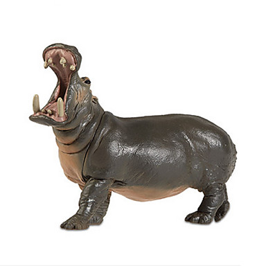 Hest Flodhest Mannekengmodeller Dyr simulering Klassisk & Tidløs Chic & Moderne polykarbonat Plast Jente Gave 1pcs