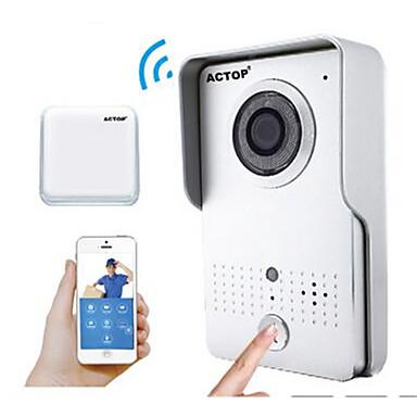 actop vídeo de segurança em casa wi-fi inteligente campainha função de alarme porteiro ios Suporte e wifi602 andriod
