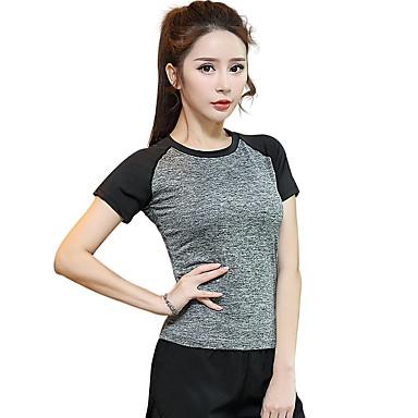 Dame T-skjorte til jogging Kortermet Fort Tørring, Pustende T-Trøye / Topper til Yoga & Danse Sko / Trening & Fitness / Løp Modal,