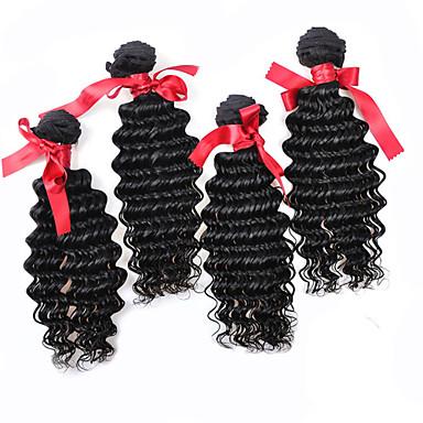 Az emberi haj sző Brazil haj Laza hullám 12 hónap 4 darab haj sző