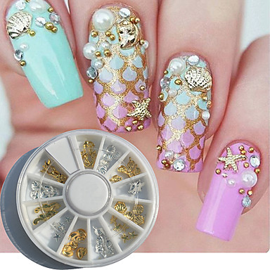 1 pcs Nail Art Kit Neglekunst Manikyr pedikyr Daglig metallic / Mote